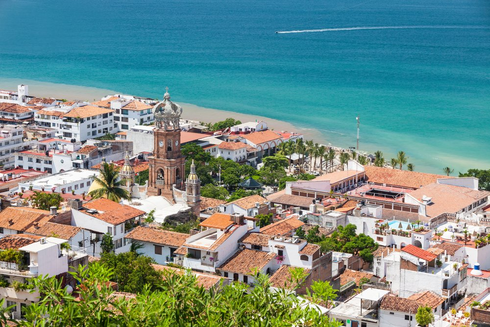 Enjoy bathing in the pristine, white-sand beaches as you move into Puerto Vallarta.