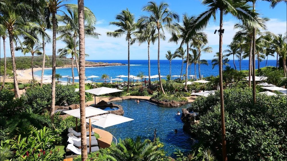 Feast your eyes in the evergreen beauty of Four Seasons Resort in Lanai, Hawaii.