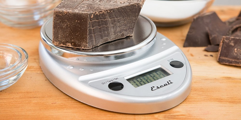 Using a kitchen scale helps you get accurate measurements for your dish.