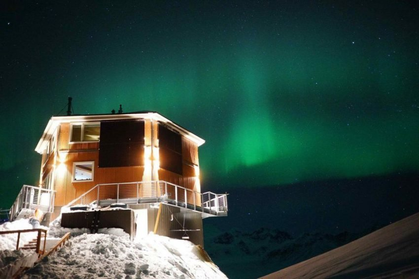 Hit two birds at once when you fulfill your dream of taking an Alaskan cruise and stay at Sheldon Chalet to gaze at the beautiful Northern Lights.