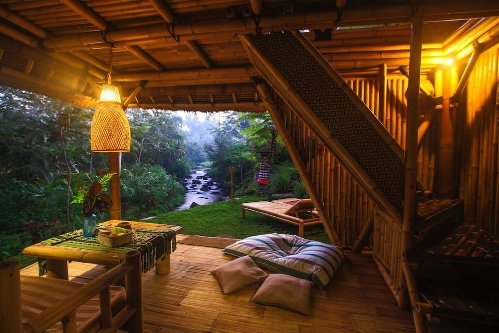 Surround yourself with luscious greens as you camp in this hideout eco-home.