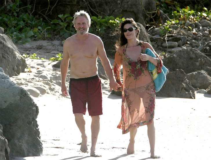 Michael Douglas & Catherine Zeta-Jones – Go On Family Trips At St. Barts