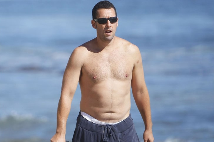 Adam Sandler And His Daughters, Sadie & Sunny – Family Time On The Beaches Of Malibu, California